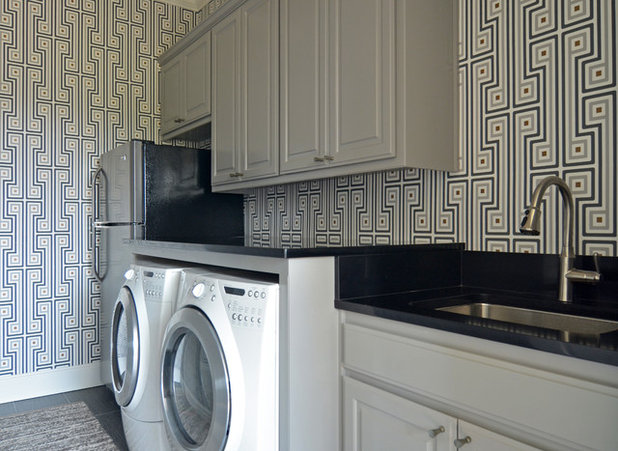 Eclectic Laundry Room by Sarah Greenman