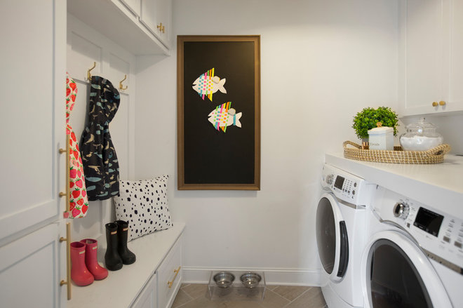 Traditional Laundry Room by Margaret Wright Photography
