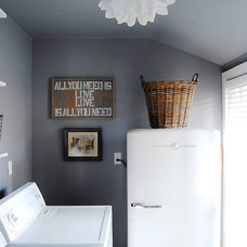 Craftsman Laundry Room by Corynne Pless