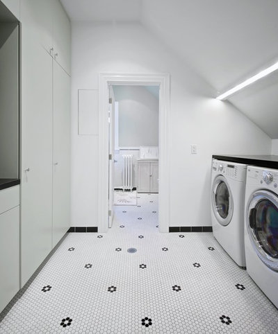 Scandinavian Laundry Room by Andrew Snow Photography
