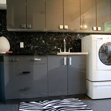 Eclectic Laundry Room by Ieteke