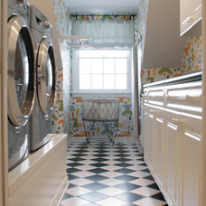Traditional Laundry Room by Esther Hershcovich