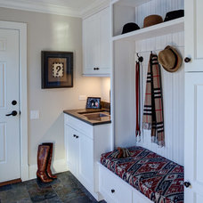 Traditional Laundry Room by Gina Bon, Airoom Architects & Builders LLC