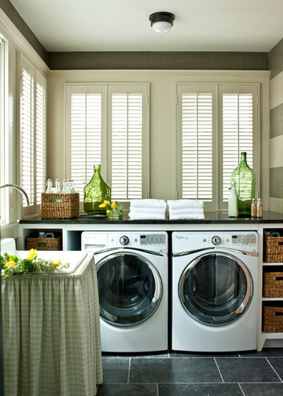 Farmhouse Laundry Room by Phoebe Howard