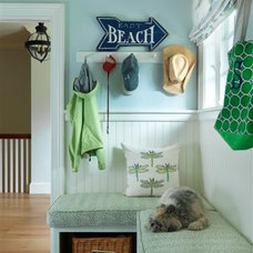 Beach Style Laundry Room by Clifford M. Renshaw Architects