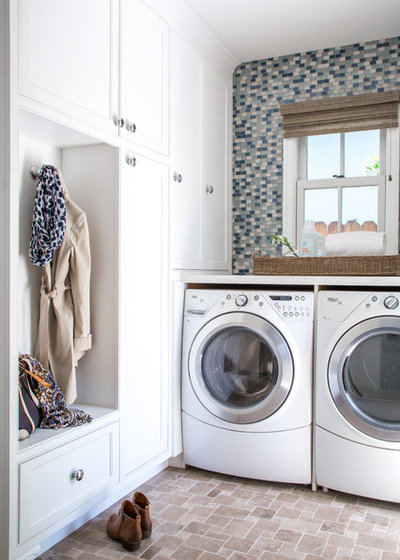 Transitional Laundry Room by Amy Peltier Interior Design & Home