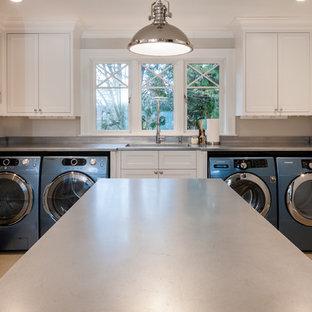 Idéer för att renovera en eklektisk tvättstuga