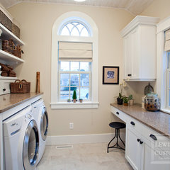 traditional laundry room by Lewis & Weldon Custom Kitchens