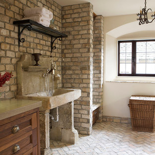 Photo of a mediterranean utility room in Orange County.