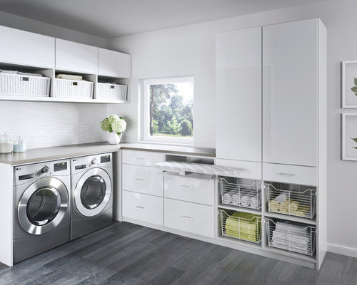 L Shaped Laundry Room Design Ideas Renovations Amp Photos