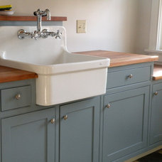 Traditional Laundry Room by Hot Apple Pine LLC