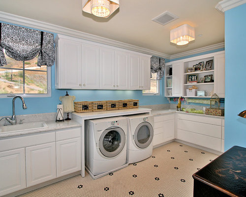 Laundry Countertop Materials : Under Counter Washing Machine Ideas, Pictures, Remodel and Decor
