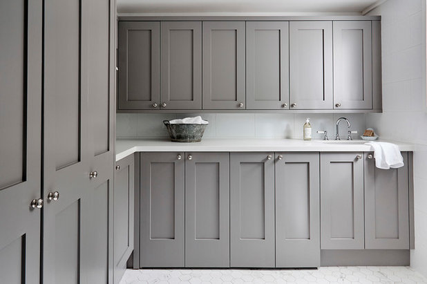 Transitional Laundry Room by Provincial Kitchens