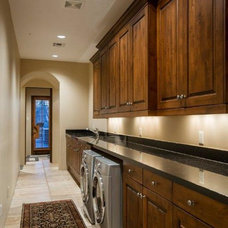 Traditional Laundry Room by Fisher Custom Homes