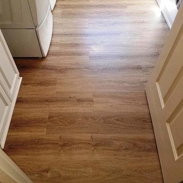 Norwell Sunroom & Laundry LVT flooring
