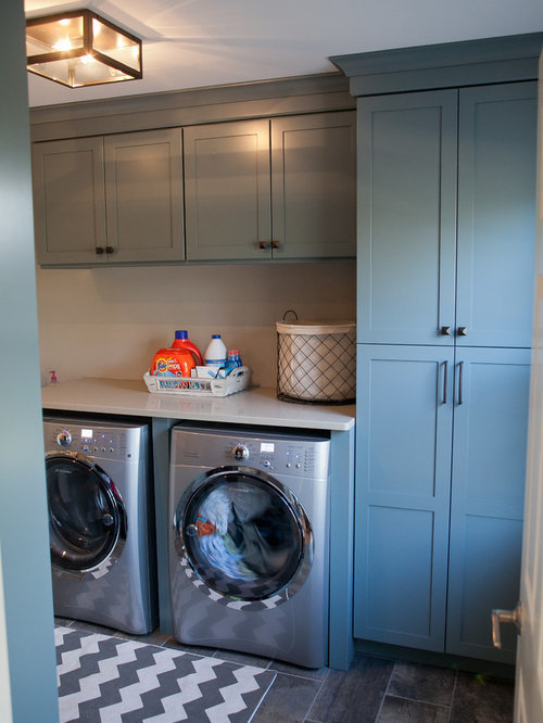 Our 11 Best Laundry Room with Blue Cabinets and Slate Floors Ideas   Houzz