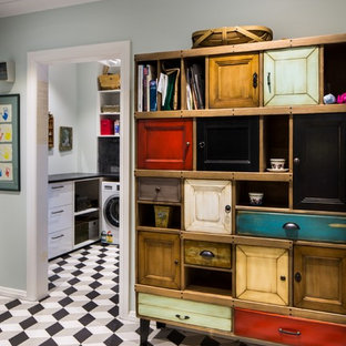NYC Victorian laundry and mud room