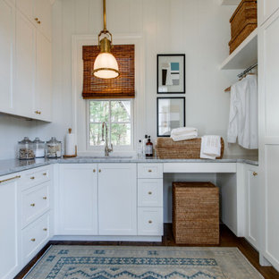 Inspiration for a victorian laundry room remodel in Nashville