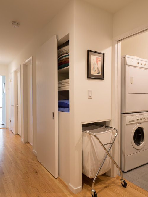 laundry room furniture. example of a small 1960s porcelain floor utility room design in san francisco with white walls laundry furniture m