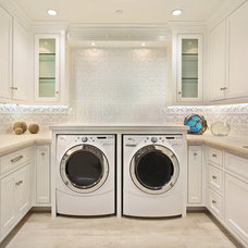 traditional laundry room by Patterson Custom Homes
