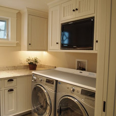 Traditional Laundry Room by Sylco Cabinetry