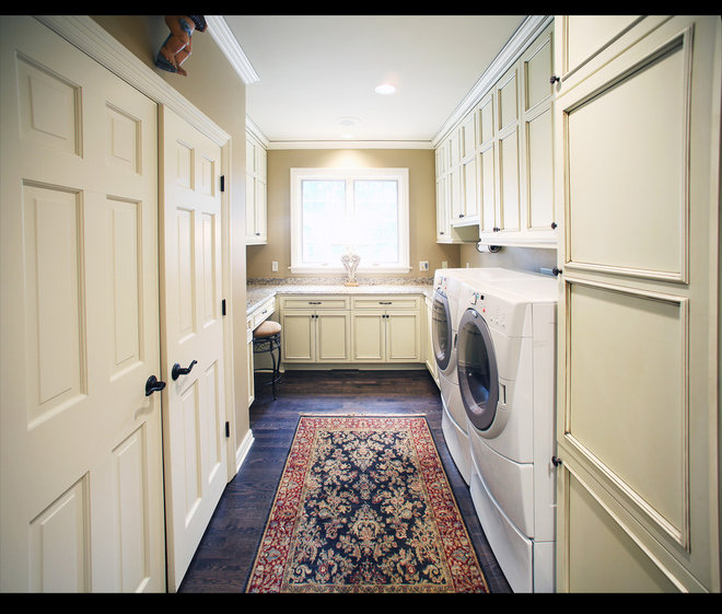 Traditional Laundry Room by Barenz Builders