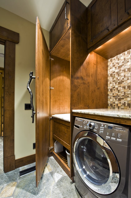 modern laundry room by Sticks and Stones Design Group inc.