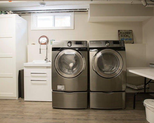 Inspiration For A Medium Sized Industrial Single Wall Separated Utility  Room In Calgary With An