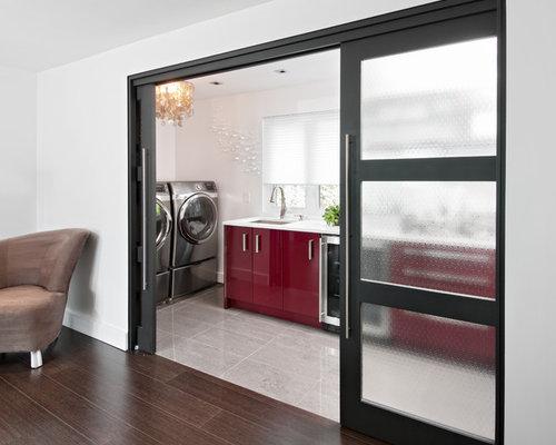 Alternative To Bifold Door Pocket Door Laundry Room Design