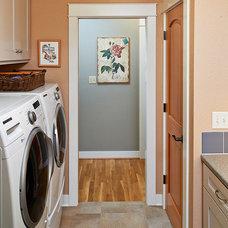 Craftsman Laundry Room by Henderer Design + Build