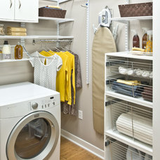 Traditional Laundry Room by Organized Living