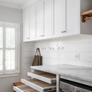 Organized Mudroom and Laundry