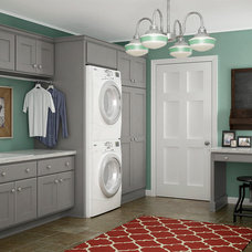 Transitional Laundry Room by Crystal Cabinets