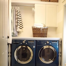contemporary laundry room Our Mini Manor