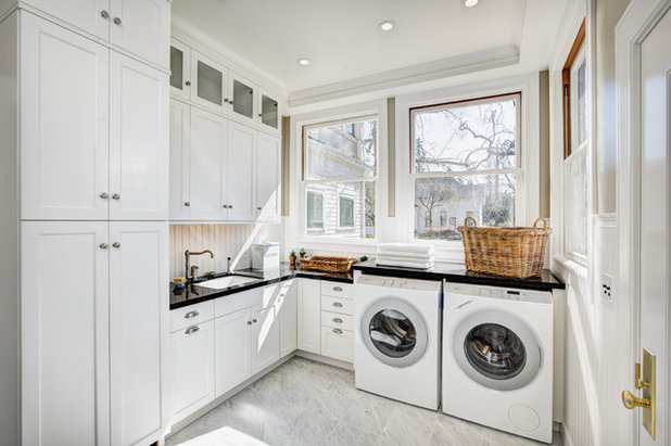 Farmhouse Laundry Room by By Design