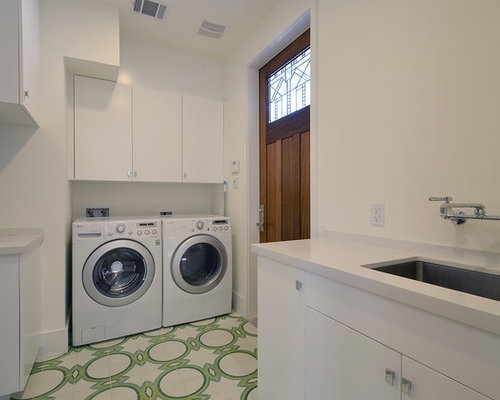 Tile flooring laundry room design ideas remodels photos for Laundry room floor ideas