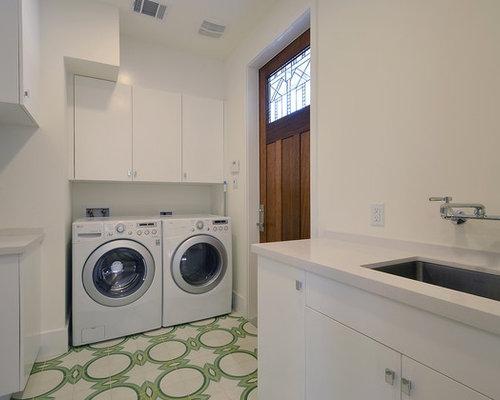 Tile flooring laundry room design ideas remodels photos for Laundry room floor ideas