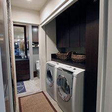 Contemporary Laundry Room by David Brandsen Construction Inc.