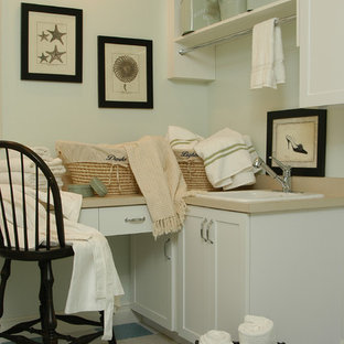 Beach style laundry room photo in Los Angeles