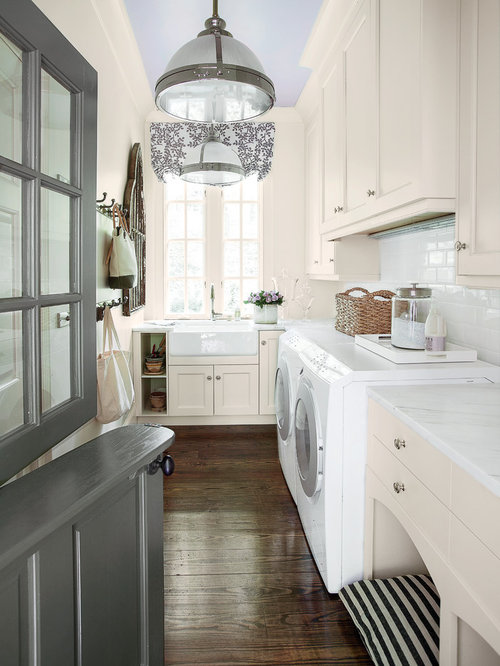 Laundry Room Design Ideas, Renovations & Photos with a Farmhouse Sink