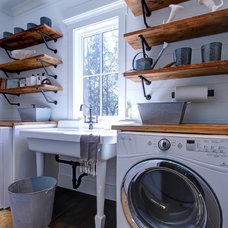 Farmhouse Laundry Room by Litchfield Cabinetry and Trim, LLC