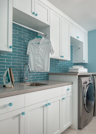 Transitional Laundry Room by EBHCI