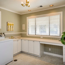 Traditional Laundry Room by Dennis Mayer, Photographer