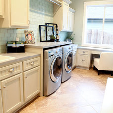 traditional laundry room by Valiant Homes