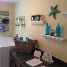 Beach Style Laundry Room by Lisa Ryan