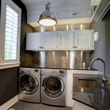 Transitional Laundry Room by Construction Daniel Rodrigue