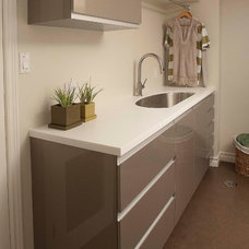 Contemporary Laundry Room by Paragon Kitchens