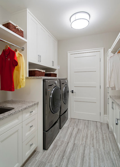 Transitional Laundry Room by Old World Kitchens & Custom Cabinets
