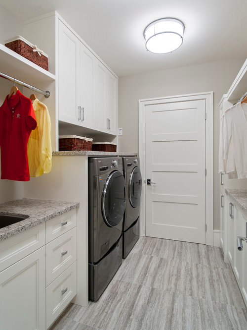 Narrow Laundry Room Home Design Ideas Pictures Remodel