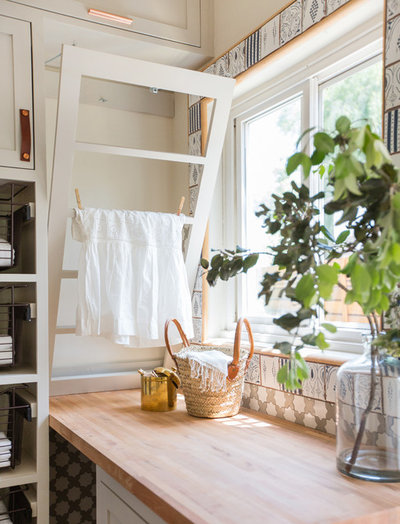 Rustic Laundry Room by STEFANI STEIN